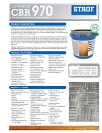 Graphic: Sell Sheet for Wood Flooring Adhesive CBR-970
