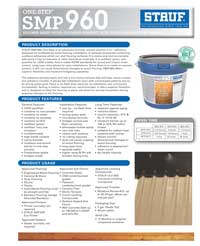 Graphic: Sell Sheet for Wood Flooring Adhesive SMP-960