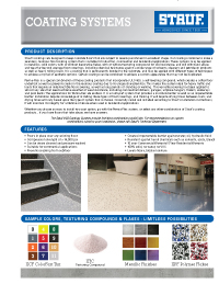 Graphic: Sell Sheet for Coatings Systems