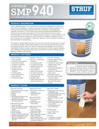 Graphic: Sell Sheet for Wood Flooring Adhesive SMP-940